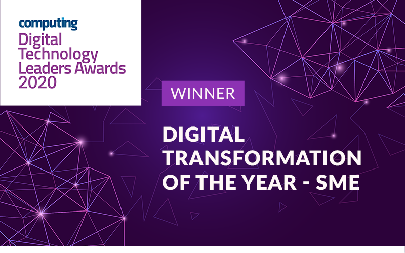 The KeyHolding Company wins Digital Transformation of the Year (SME) at the 2020 Digital Technology Leader Awards for its custom service delivery platform built by Haulmont